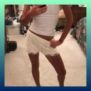 Pants - Lace Shorts